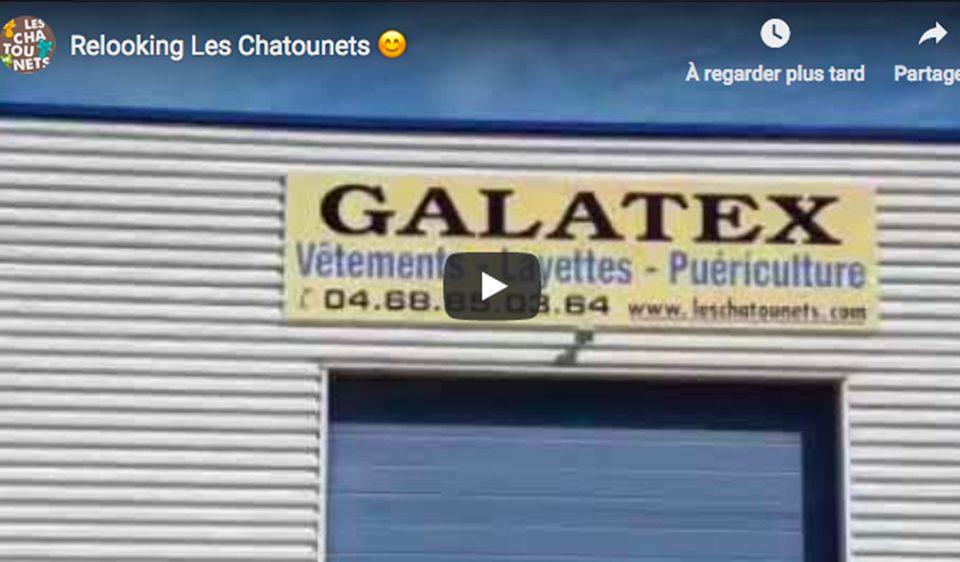 video du changement de panneaux de Les Chatounets, spécialite des vêtements bébé