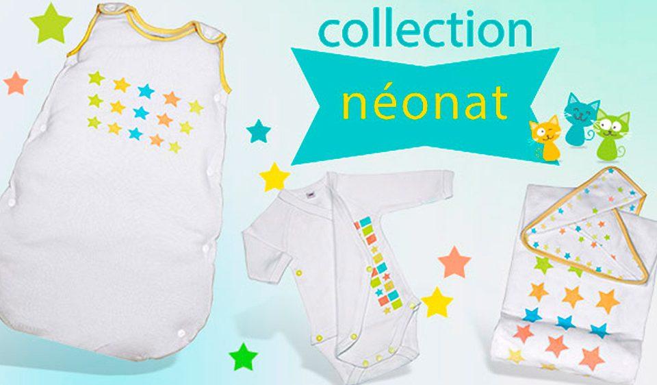 collection néonat Les Chatounets, pour les bébé prématurés garçons et bébés prématurés filles par les Chatounets dans les Pyrénées Orientales