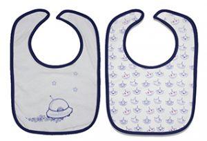 bavoirs pour bébé par lot de 7 couleurs variées par les Chatounets, l'univers du bébé
