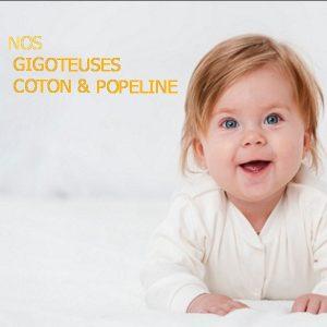 Gigoteuse coton ou Popeline Eponge